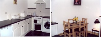 Fully fitted kitchen with mod-cons at Fern Cottage holiday accommodation, Churchill, Donegal.